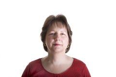 czerwona pewna kobieta Zdjęcia Stock