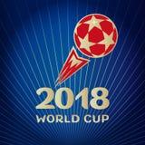 Czerwona piłki nożnej piłki błękita tapeta Obrazy Royalty Free