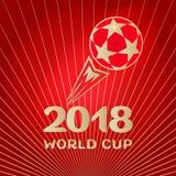 Czerwona piłki nożnej piłki czerwieni tapeta Obrazy Stock
