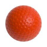 Czerwona piłka golfowa Zdjęcie Royalty Free
