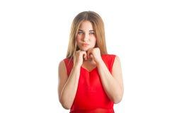 czerwona piękna kobieta Obrazy Royalty Free