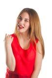 czerwona piękna kobieta Fotografia Royalty Free