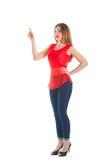 czerwona piękna kobieta Fotografia Stock