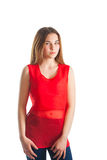 czerwona piękna kobieta Zdjęcie Stock
