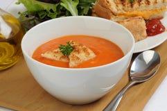 czerwona pieprzowa zupę. Zdjęcia Royalty Free