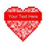 Czerwona piksla serca ikona Zdjęcie Stock