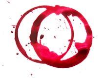 czerwona plama pierścionka Fotografia Royalty Free