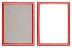 Czerwona plastikowa obrazek rama Obrazy Stock