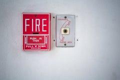 Czerwona pożarniczego alarma zmiana Zdjęcie Royalty Free