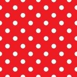 Czerwona polki kropka bezszwowa Zdjęcia Stock