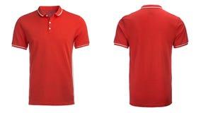 Czerwona polo koszula, odziewa obrazy stock