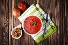 Czerwona pomidorowa polewka Zdjęcie Stock