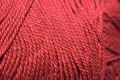 czerwona przędza zdjęcie royalty free