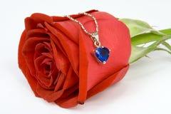 czerwona róża serca fotografia stock