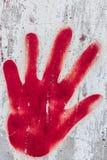 Czerwona ręka Obraz Stock