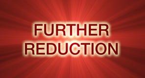 czerwona redukcji banner dalszych sprzedaży ilustracji