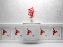 Czerwona roślina royalty ilustracja