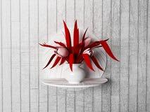 Czerwona roślina na półce, royalty ilustracja
