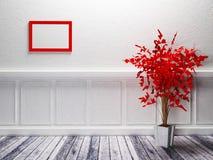 Czerwona roślina stoi ilustracja wektor