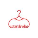 Czerwona rocznik garderoby ikona Obraz Royalty Free