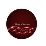 Czerwona Rozjarzona kartka bożonarodzeniowa Obrazy Stock