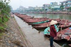 Czerwona Rzeczna delta, Wietnam zdjęcia royalty free