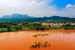 Czerwona rzeka Zdjęcia Royalty Free