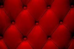 Czerwona rzemienna kanapy tekstura Fotografia Royalty Free