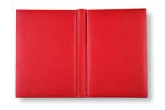 Czerwona rzemienna książkowa pokrywa z wirem. zdjęcie royalty free