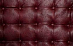 Czerwona rzemienna tekstura Fotografia Royalty Free