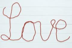 Czerwona słowo miłość Zdjęcie Royalty Free
