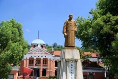 Czerwona sala w Wuhan mieście obrazy stock