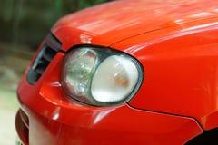 Czerwona samochód głowa zdjęcie stock