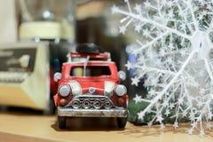 Czerwona samochód zabawka obraz royalty free