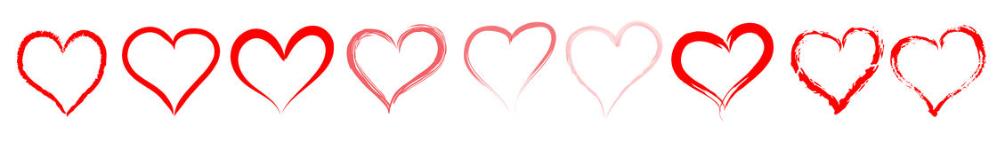 Czerwona serce linia, divider/ ilustracji