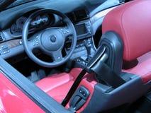 czerwona skórzana odwracalna zdjęcie stock