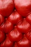 czerwona skórzana pluszowa Fotografia Royalty Free