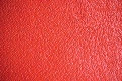 czerwona skórzana tła naturalnej konsystencja Zdjęcia Stock