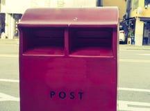 Czerwona skrzynka pocztowa, korea południowa obraz royalty free