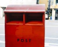 Czerwona skrzynka pocztowa, korea południowa zdjęcia stock