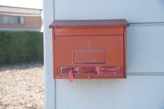 Czerwona skrzynka pocztowa w Japonia Zdjęcie Stock