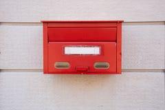 Czerwona skrzynka pocztowa w Japonia Zdjęcie Royalty Free
