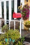 Czerwona skrzynki pocztowa dekoracja Zdjęcie Stock