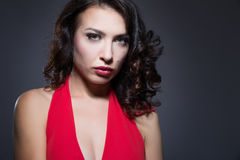 czerwona smokingowa kobieta Obraz Stock