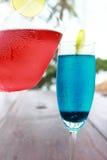 Czerwona sodowana błękitna soda obrazy stock