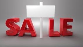Czerwona sprzedaż z białym sztandarem Obraz Stock