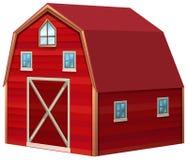 Czerwona stajnia w 3D projekcie ilustracji
