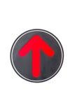 Czerwona strzałkowata ikona na białym tle Obraz Royalty Free