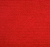 Czerwona Sukienna tekstura Fotografia Stock
