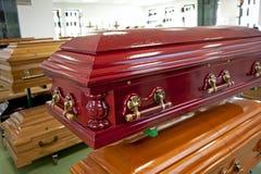 Czerwona szkatuła Fotografia Royalty Free